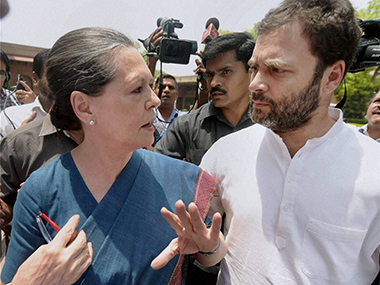 File image of Congress president Sonia Gandhi and vice president Rahul Gandhi. PTI