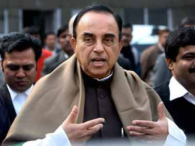 "'We will not give up until Ram temple is built,"" says Swamy/ PTI"