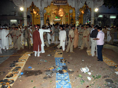 Ajmer shrine after the blasts. Reuters