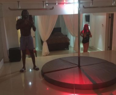 Chris Gayle had once posted a photo of a strip club installed in house on his Instagram account