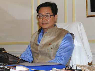 Union Minister of State for Home Affairs Minister Kiren Rijiju. Image courtesy PIB