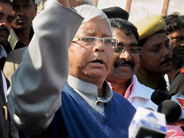 Two FIRs registered against Lalu Prasad for 'narbhakshi' comment on Amit Shah