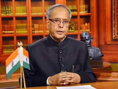 President Pranab Mukherjee in a file photo. AFP