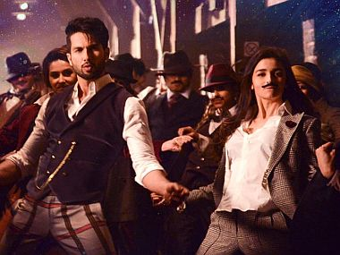 Shahid Kapoor and Alia Bhatt in a sequence from the film. Facebook image