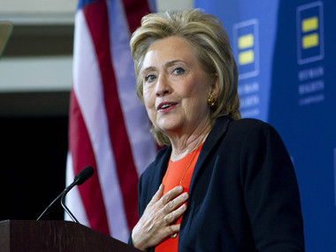 In emotional speech Hillary Clinton pushes for new gun laws