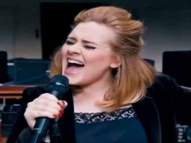 Adele in a screengrab from the video.