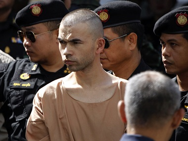 File image of Bilal Mohammad, on his arrival at a military court in Bangkok in November. AP