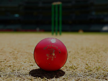 The pink ball used in the first of its kind Day Night Test between Australia and New Zealand at Adelaide. Getty