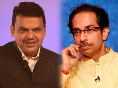 Devendra Fadnavis and Uddhav Thackeray in file photos. Getty Images