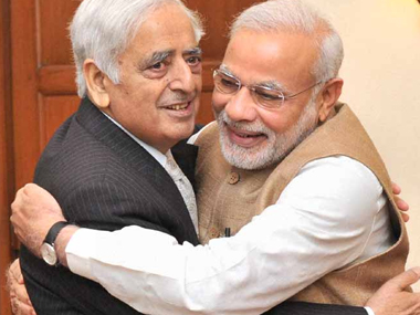 Which party is the PDP's coalition partner in J&K? Multiple-choice exam question in