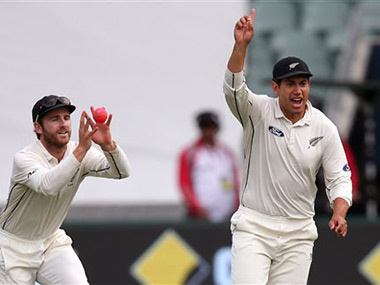 New Zealand lead by 94 runs as bowlers dominate with pink ball in first day-night Test