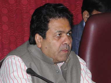 File picture of Rajiv Shukla. PTI