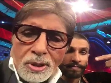 Watch: Amitabh Bachchan takes to dubsmash to mime Ranveer Singh's dialogue from 'Bajirao