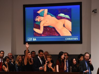 Modiglianis Reclining Nude sells for 170 million at Christies auction