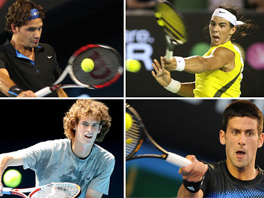 The Big Four (file image from 2008) have dominated the Men's circuit. AFP