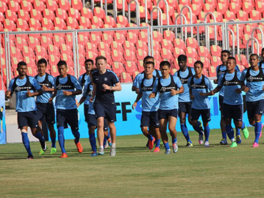 India prepare for their SAFF Cup final against Afghanistan. AIFF