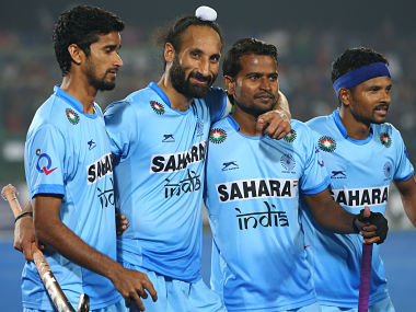 Sardar Singh is second from left in this picture / Getty Images
