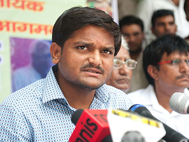 A file image of Patidar leader Hardik Patel. PTI