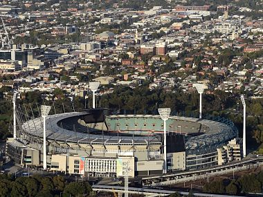 Aerial view of Melbourne Cricket Ground. AFP