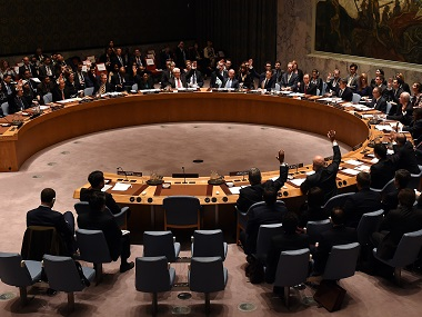 UN Security Council votes to adopt the resolution as it holds its first-ever meeting of finance ministers. AFP