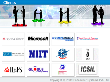 Screenshot of Endeavour Systems client list from the company's website