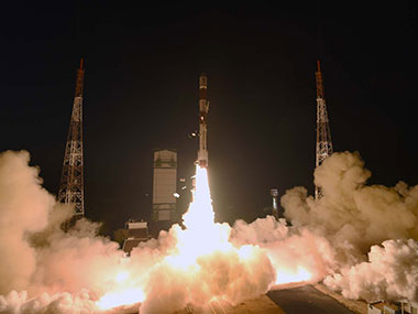 ISRO launches PSLV - C29. Image courtesy: Official ISRO website