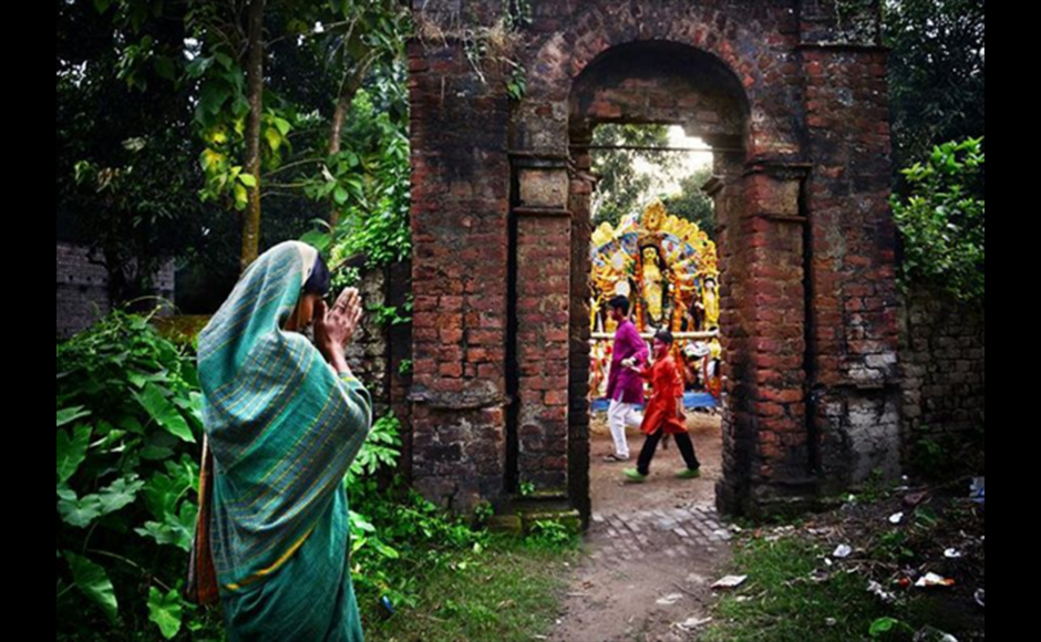 Pinak took this picture in the immersion ceremony of the Goddess Durga at the last day of the great festival of Bengal - Durga Puja or Pujo. This picture was taken at Guptipara, Hoogley district, West Bengal. Pinak Pramanik, 28 years, Government Service