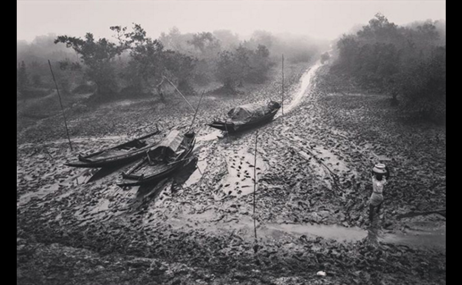 There is a close relation between man, river and forest in Sundarban. Dire poverty urges the people of Sundarbans to frequent the forest and the river in search of livelihood. They take the risk for fishing and enter the forest to collect honey and fuel wood. Supriyo Ranjan Sarkar, 36 years, Businessman