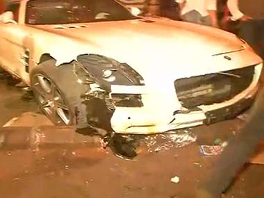 A Mercedes car ran over five people sleeping on a pavement in Mumbai. IBNLive