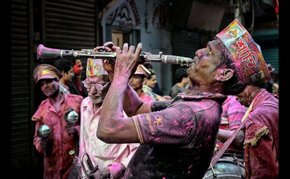 This photograph was shot at Burrabazar, Kolkata on the occasion of Holi. Debiprasad Mukherjee, 32 years, Business Consultant