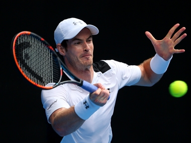 Andy Murray in action in round 2 of the Australian Open. Getty