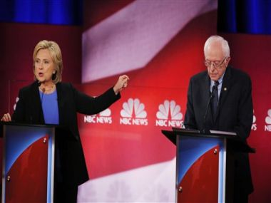 Hillary Clinton and Bernie Sanders spar over race, immigration