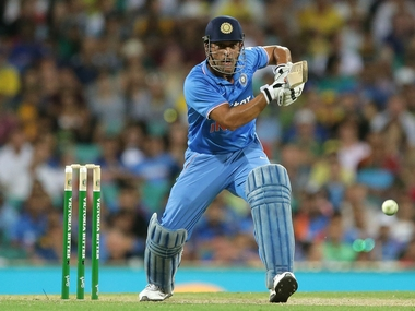 MS Dhoni in action at the Sydney ODI. Getty