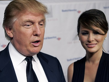 Donald Trump and Melania in a file photo. AP