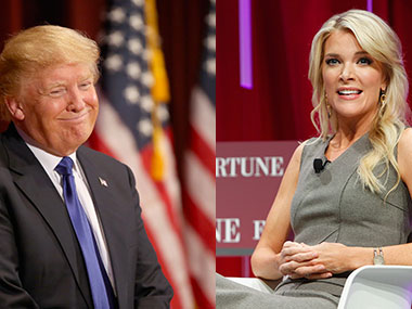 Donald Trump and Megyn Kelly. Getty images