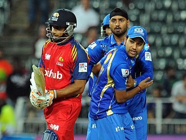 File photo of Gulam Bodi in action for Highveld Lions against Mumbai Indians. AFP