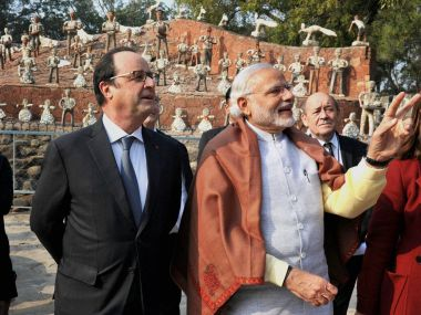 Rafale Jaitapur still stuck Modi has nothing to show for all the camaraderie with Hollande
