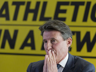 File picture of IAAF president Sebastian Coe. AFP