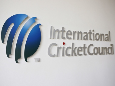 The International Cricket Council (ICC) logo. Reuters