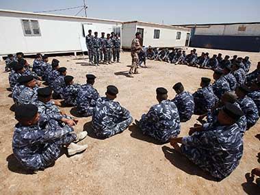 Recruits being trained by Islamic State in a file photo. Reuters