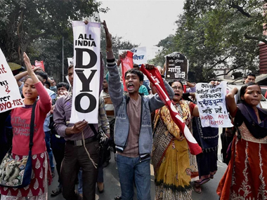 Protests against the Kamduni gangrape. PTI