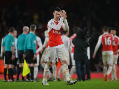 Laurent Koscielny was the match-winner for Arsenal in their first match in 2016. AFP
