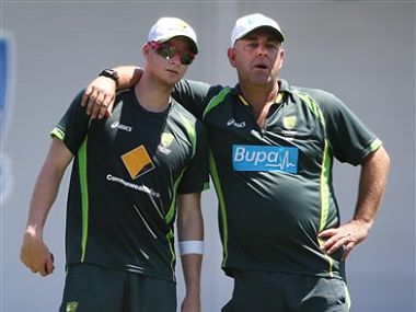 File picture of Steve Smith (L) and Darren Lehmann. (R). AP