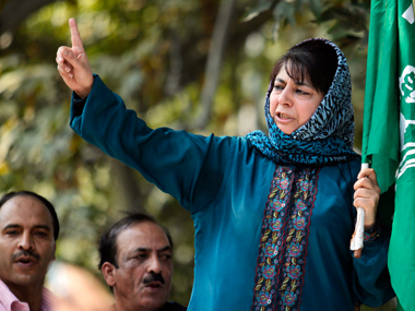 PDP chief Mehbooba Mufti. Reuters