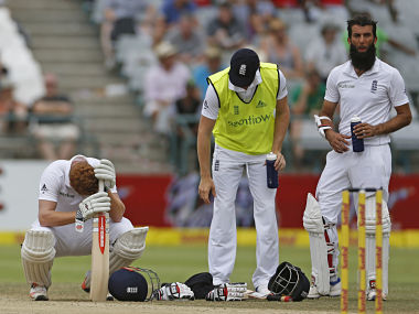 Jonny Bairstow and Moeen Ali negotiated the rest of the afternoon and England were on 159 for six when play was called off for bad light 15 minutes after tea and abandoned 45 minutes later. AP