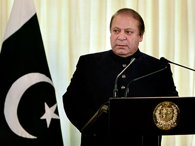 Pakistan PM Nawaz Sharif. AP