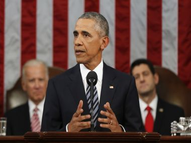 President Barack Obama delivers his final State of the Union address. AP