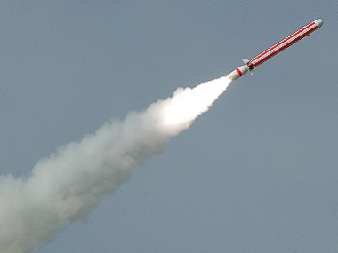 A file photo shows a Pakistani nuclear-capable radar-dodging cruise missile Babur (Hatf-VII) being fired during a test at an undisclosed location in Pakistan in 2007. AFP