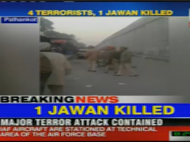 Four terrorists were killed in the gunbattle in Pathankot. Ibnlive