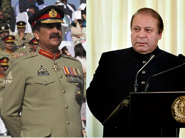 File images of Raheel Sharif (left) and Nawaz Sharif (right). Reuters and AP
